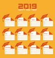 happy new year 2019 with creative design stock vector image vector image