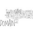 is your domain name on someone s wanted list text vector image vector image