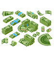 isomeric money dollar banknotes piles green vector image vector image