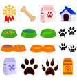 line art black and white pet care 15 icon set vector image vector image