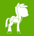 little pony icon green vector image vector image