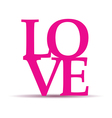 love text vector image vector image