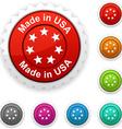 Made in USA award vector image vector image
