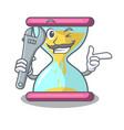 mechanic vintage hourglass isolated on the mascot vector image