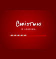 merry christmas with loading bar vector image vector image