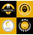 MMA Battle Logos or Badges Designs vector image
