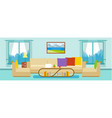 modern apartment living room interior vector image vector image