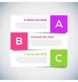 Modern infographics Design Layout with shadow vector image vector image
