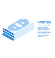 money icon isometric template for web design vector image vector image