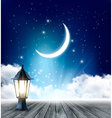 Night Sky Background With Crescent Moon And vector image vector image
