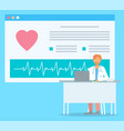 online consultation with cardiologist medical vector image vector image