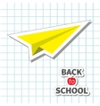Origami yellow paper plane Handdrawn doodle Paper vector image vector image