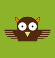 owl - icon design on background vector image vector image