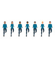 people jumping or running front view happy vector image vector image