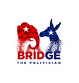 politic logo design democrat republican vector image