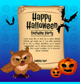 poster on theme halloween holiday sketch vector image