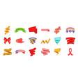 ribbon icon set cartoon style vector image vector image