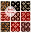 Royal floral pattern fleur-de-lis heraldic flowers vector image vector image