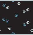 seamless pattern with cute blue footprints vector image