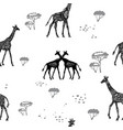 seamless pattern with giraffes vector image vector image