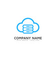 server cloud logo icon design vector image