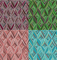 Set of 4 seamless pattern Modern stylish texture vector image vector image
