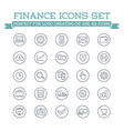 set of banking finance money icons payments and vector image vector image