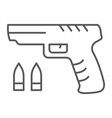 shooter game thin line icon game and play gun