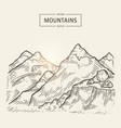 sketch of mountains landscape highlands vector image