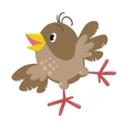 Small funny sparrow vector image
