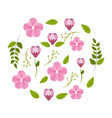 spring blossom icon image vector image vector image