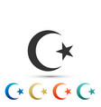 star and crescent - symbol of islam icon isolated vector image vector image
