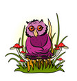 stock owl on a tree vector image vector image