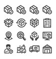 stockpile icon vector image vector image