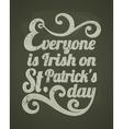 stpatricks day chalkboard design vector image vector image