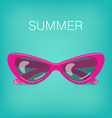 Summer Background with Glasses vector image vector image