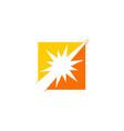 sun shine spark square logo vector image vector image