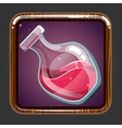 The application icon with bottle of elixir vector image