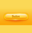 transparent rounded shiny glass button ui element vector image vector image