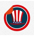 usa emblem design vector image vector image