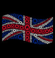 waving united kingdom flag pattern of real estate vector image