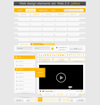 Web design template set vector | Price: 1 Credit (USD $1)