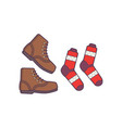 winter or autumn shoes and sock isolated vector image