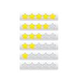 yellow progress bar from stars vector image vector image