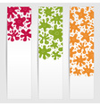Banners with smiling ink blots vector image