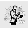 a businessman in a business suit vector image vector image