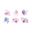 abstract badges various geometric shapes in vector image