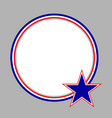 american characters flag round frame vector image vector image