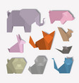 animal digital crafts set icons vector image