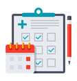 appointment scheduler icon vector image vector image